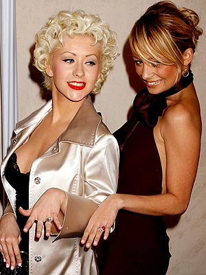 ALL THAT GLITTERS ... photo | Christina Aguilera, Nicole Richie