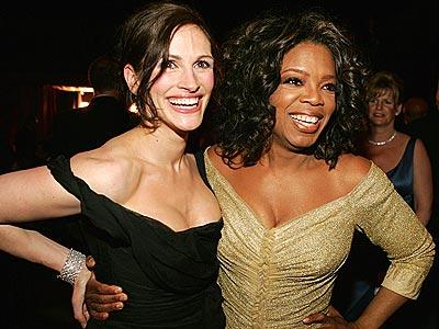 HAVING A BALL photo | Julia Roberts, Oprah Winfrey