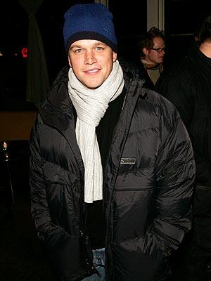 WARM RECEPTION photo   Matt Damon