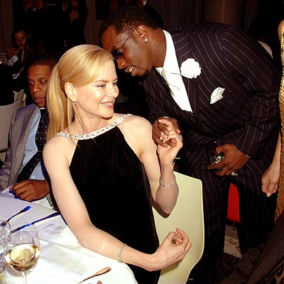 TABLE TALK photo | Nicole Kidman, Sean \P. Diddy\ Combs