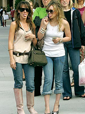 TONGUE IN CHIC photo | Haylie Duff, Hilary Duff