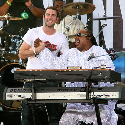 LIVE 8: PHILADELPHIA photo | Adam Levine, Stevie Wonder