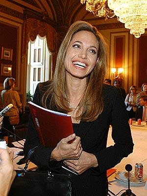 Angelina Jolie United Nations. Angelina Jolie gamely fields