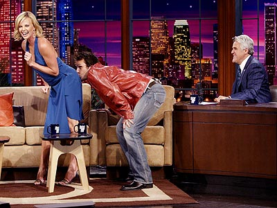 HOLLYWOOD KISS photo | Charlize Theron, Dane Cook, Jay Leno