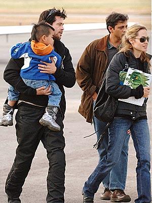 FRIENDLY SKIES photo | Angelina Jolie, Brad Pitt
