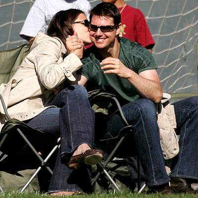 GAME DAY photo | Katie Holmes, Tom Cruise