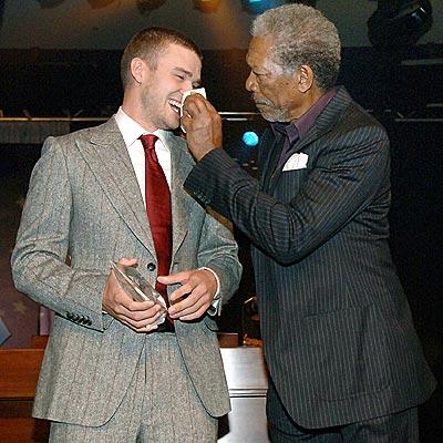 CRY ME A RIVER photo | Justin Timberlake, Morgan Freeman