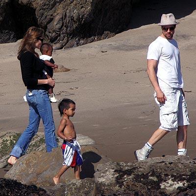 SHORE THING photo   Angelina Jolie, Brad Pitt