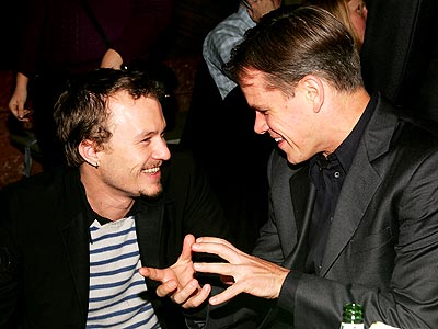 'BROTHERS' GRIN photo | Heath Ledger, Matt Damon