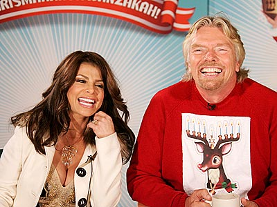 MERRY … UM ... photo | Paula Abdul, Richard Branson