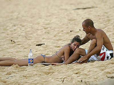 BEACH BABES photo | Gisele Bundchen, Kelly Slater
