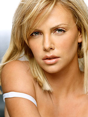 Charlize long blonde hairstyle