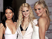 'Angels' Descend Upon Peaceful London | Cameron Diaz, Drew Barrymore