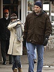 Jen & Vince Snuggle in Aspen | Jennifer Aniston