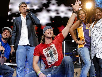 GANG'S ALL HERE  photo | Ace Young, Bucky Covington, Elliott Yamin, Lisa Tucker, Paris Bennett, Taylor Hicks