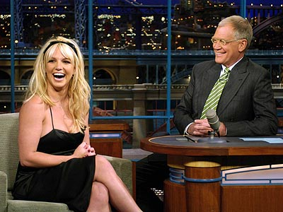On which TV show did Britney officially announce her pregnancy? | Britney Spears, David Letterman