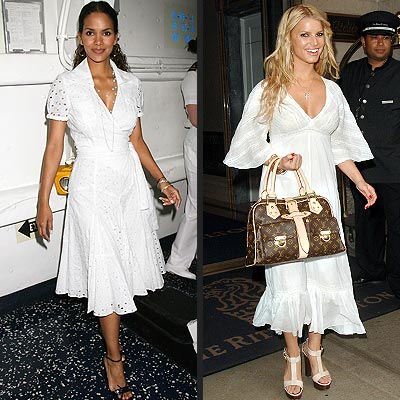 White Eyelet Dress on See The Looks That Sizzle     And Those That Fizzle     As Selected By