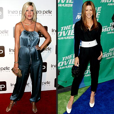 WORST: PANT SUITS photo | Kate Beckinsale, Tori Spelling