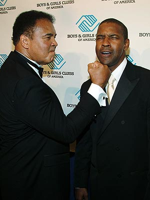 STINGS LIKE A BEE photo | Denzel Washington, Muhammad Ali