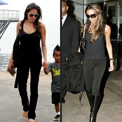 DARK & LOVELY photo | Angelina Jolie, Victoria Beckham