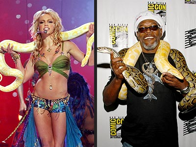 SNAKES ON A STAR photo | Britney Spears, Samuel L. Jackson