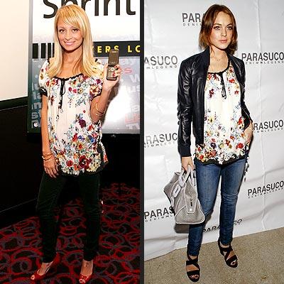 NICOLE VS. LINDSAY photo | Lindsay Lohan, Nicole Richie