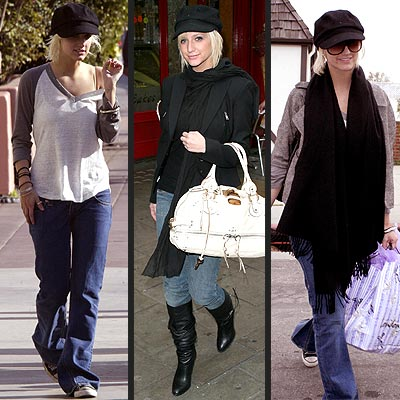 BURBERRY CAP photo | Ashlee Simpson