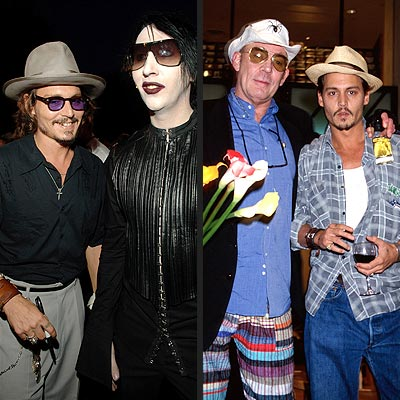 7. HIS ECLECTIC FRIENDS photo | Hunter S. Thompson, Johnny Depp, Marilyn Manson
