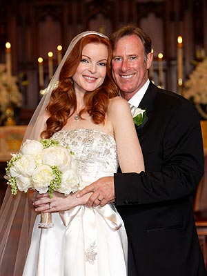 Marcia Cross wedding