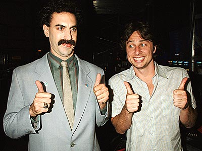 FUNNY GUYS photo | Sacha Baron Cohen, Zach Braff