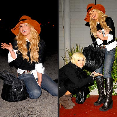 HITTING THE GROUND photo | Ashlee Simpson, Jessica Simpson