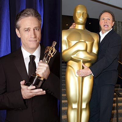 What does emcee Jon Stewart have in common with veteran Oscar host Billy Crystal?