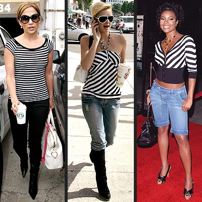 STRIPED SHIRTS photo | Gabrielle Union, Jennifer Lopez, Paris Hilton
