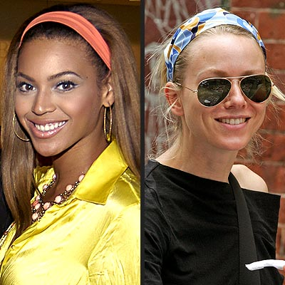 TREND: FUN FABRIC HEADBANDS photo | Beyonce Knowles, Naomi Watts