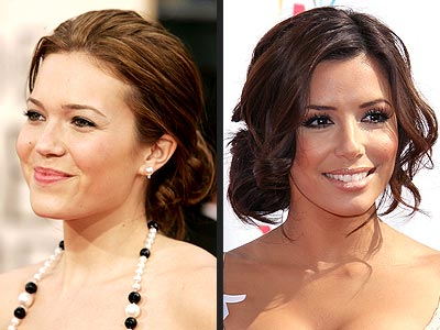 TREND: LOOSE UPDOS  photo | Eva Longoria, Mandy Moore