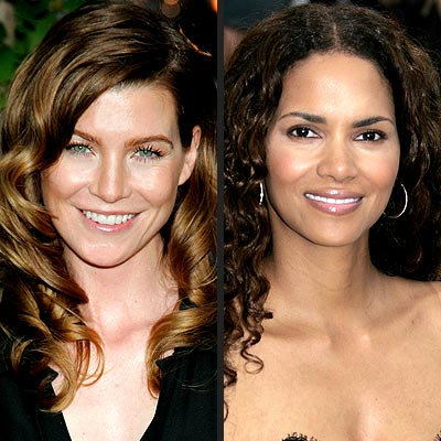 TREND: NEUTRAL EYES  photo | Ellen Pompeo, Halle Berry