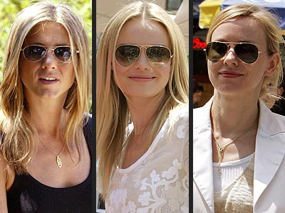 AVIATOR SUNGLASSES photo | Jennifer Aniston, Kate Bosworth, Naomi Watts