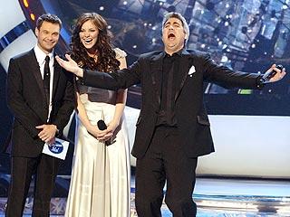 Taylor Wins American Idol | Katharine McPhee, Ryan Seacrest, Taylor Hicks