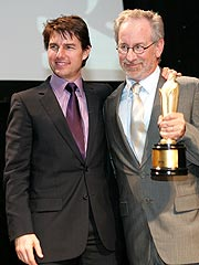 Tom Cruise Surprises Steven Spielberg