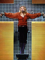 Madonna Defends Crucifixion Scene