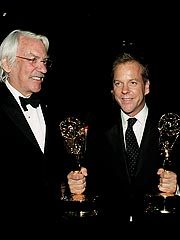 Backstage at Emmys: Winners & Smokers | Donald Sutherland, Kiefer Sutherland