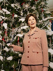 Laura Bush Unveils White House Christmas Decor