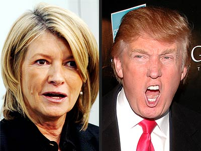 MARTHA VS. DONALD photo | Donald Trump, Martha Stewart