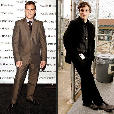 MAN IN BROWN VS. MAN IN BLACK photo | Joaquin Phoenix