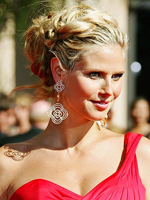 Heidi Klum with her natural make up