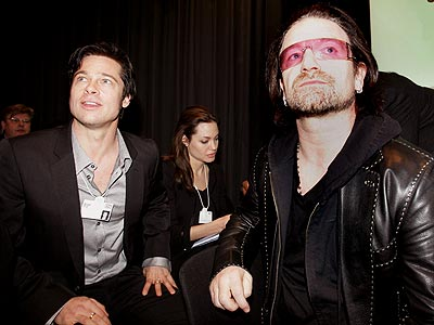 HIGH HOPES photo | Bono, Brad Pitt