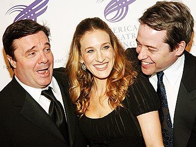 THREE'S COMPANY photo | Matthew Broderick, Nathan Lane, Sarah Jessica Parker