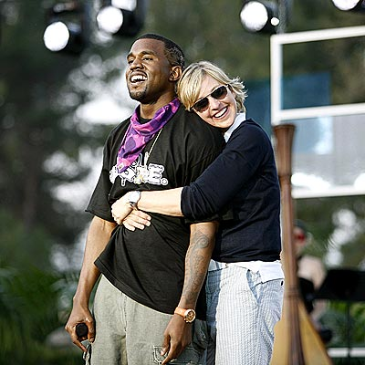 SQUEEZE PLAY photo | Ellen DeGeneres, Kanye West