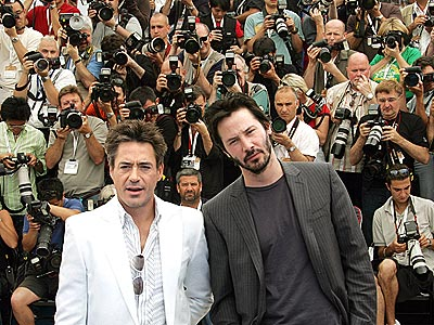 ALL IN A DAY  photo | Keanu Reeves, Robert Downey Jr.