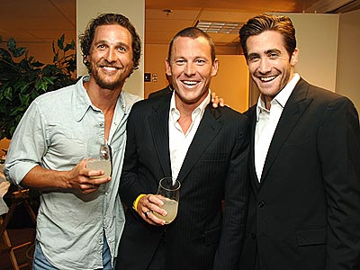 BUDDY SYSTEM photo | Jake Gyllenhaal, Lance Armstrong, Matthew McConaughey